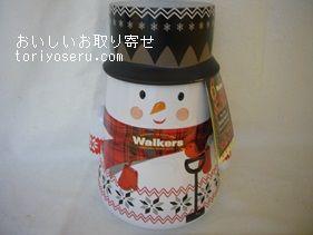 ウォーカーズのスノーマン缶
