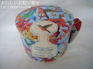 ガーディナーズのバニラファッジバード缶