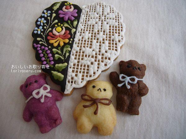 菓音の刺繍のクッキーとハッピーベアクッキー