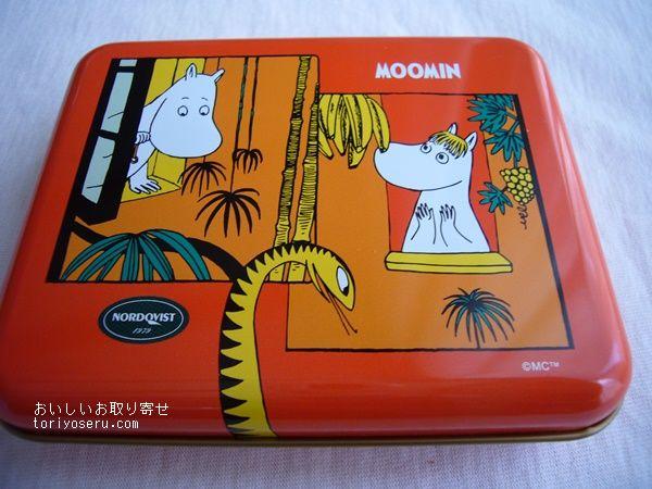 ムーミンのルイボスティー缶