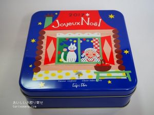 レピドールのクリスマスクッキー缶2017