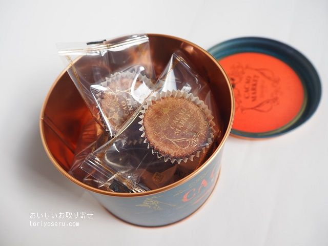 マリベル・カカオマーケットのキュイショコラ缶