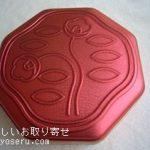 資生堂パーラーの花椿ビスケットローズピンク缶
