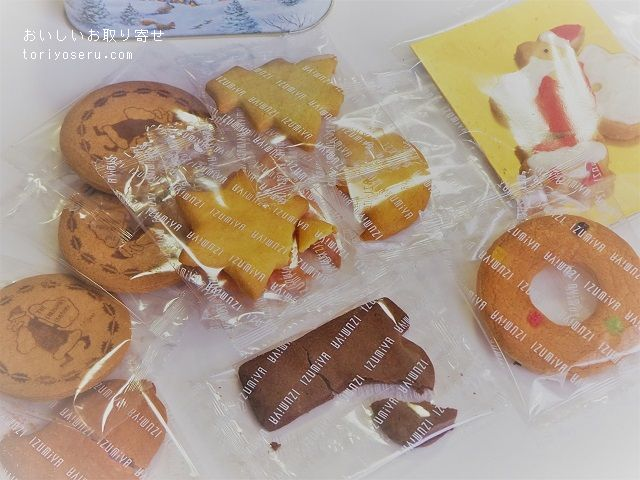 泉屋東京の三越限定クリスマス缶入りクッキー