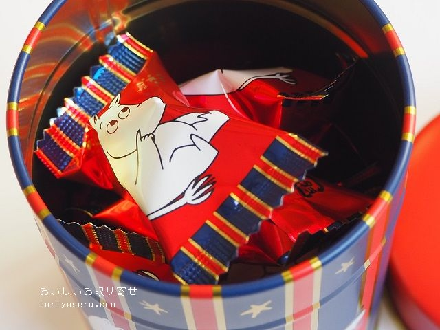 ムーミンのチョコレートクッキー缶