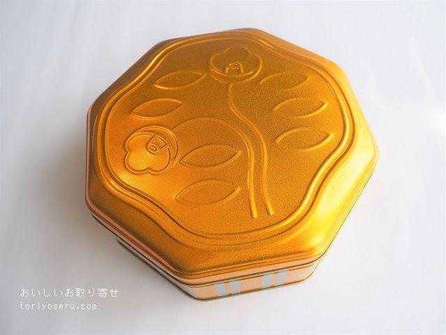 資生堂パーラーの花椿ビスケット(2019年限定缶)オレンジ色