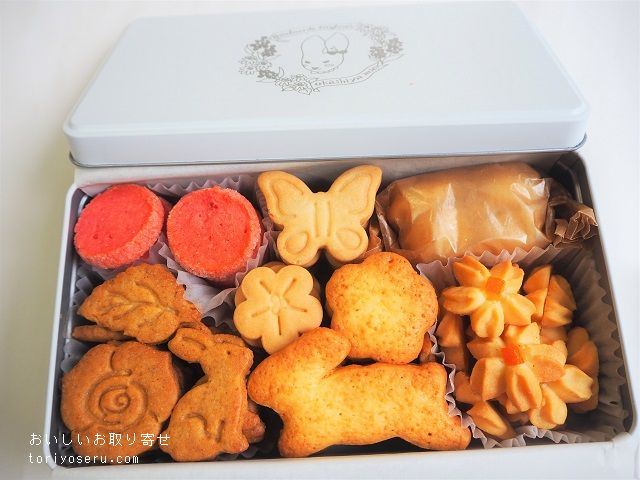 Okashiya miaの7周年記念クッキー缶