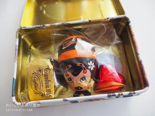 アフタヌーンティ×カファレルのチョコレート缶