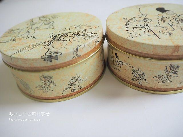上野風月堂のプティゴーフル(鳥獣戯画缶)