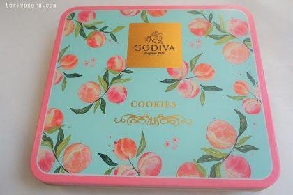 ゴディバGODIVAのピーチクッキーアソート缶