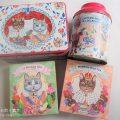 アフタヌーンティルームの猫の缶入り紅茶とお菓子