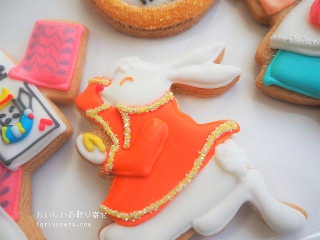 ベリーデコのアイシングクッキー(アリス)